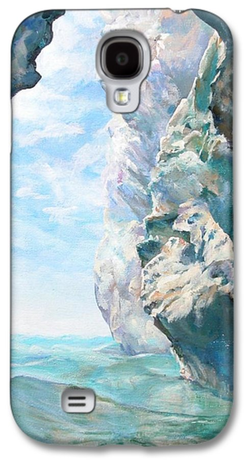 Landscape Paintings Galaxy S4 Case featuring the painting Trouee 2 by Muriel Dolemieux
