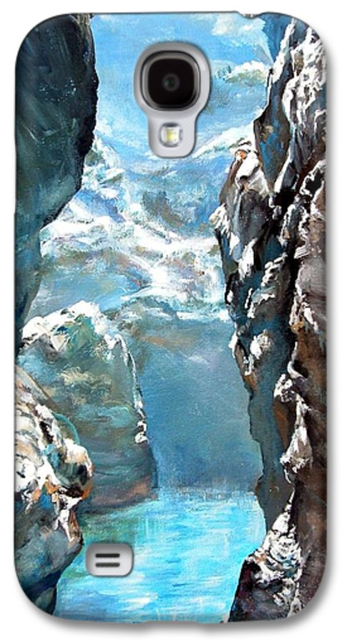 Landscape Galaxy S4 Case featuring the painting Trouee 3 by Muriel Dolemieux