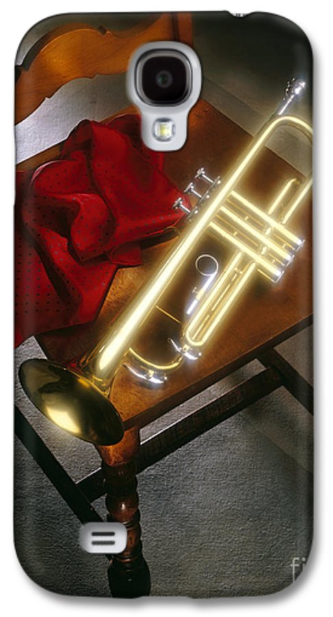 Trumpet Galaxy S4 Case featuring the photograph Trumpet On Chair by Tony Cordoza