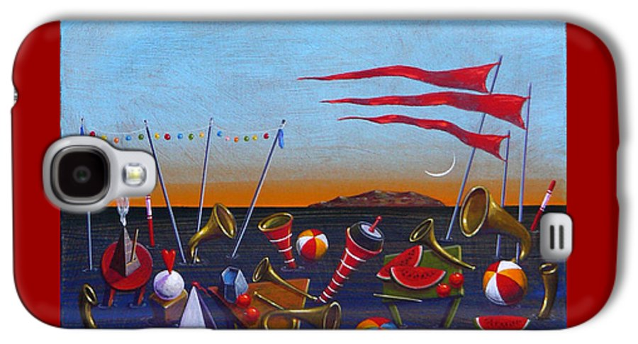 Piano Galaxy S4 Case featuring the painting Trumpets Of The Mediterranean by Dimitris Milionis