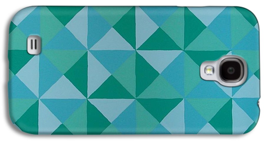 Triangles Galaxy S4 Case featuring the painting Trying Any Angle by Gay Dallek