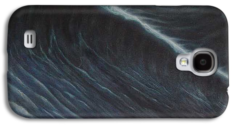 Seascapes Galaxy S4 Case featuring the painting Tsunami by Angel Ortiz