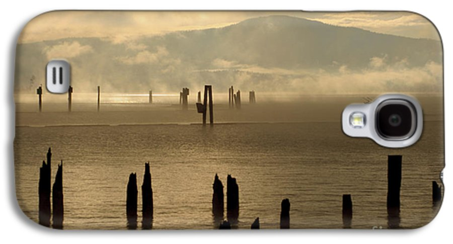 Tugboat Galaxy S4 Case featuring the photograph Tugboat In The Mist by Idaho Scenic Images Linda Lantzy