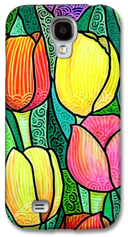 Tulips Galaxy S4 Case featuring the painting Tulip Expo by Jim Harris