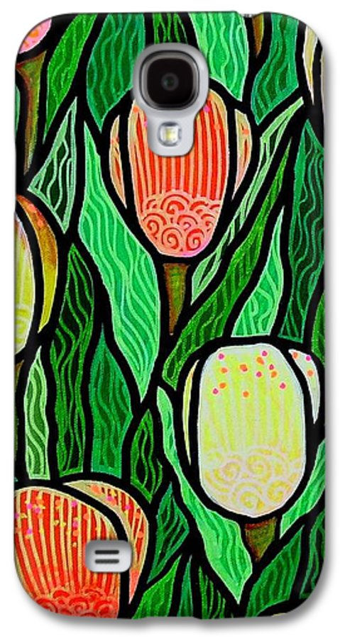 Tulips Galaxy S4 Case featuring the painting Tulip Joy 2 by Jim Harris