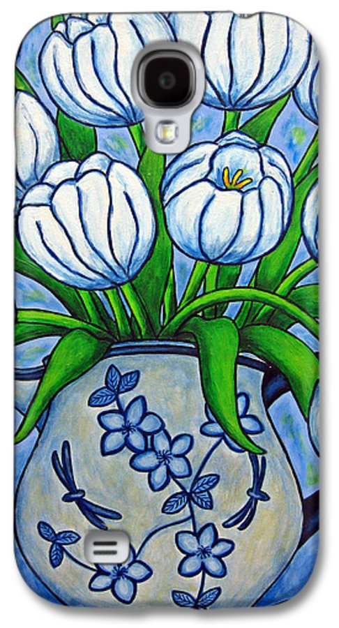 Flower Galaxy S4 Case featuring the painting Tulip Tranquility by Lisa Lorenz