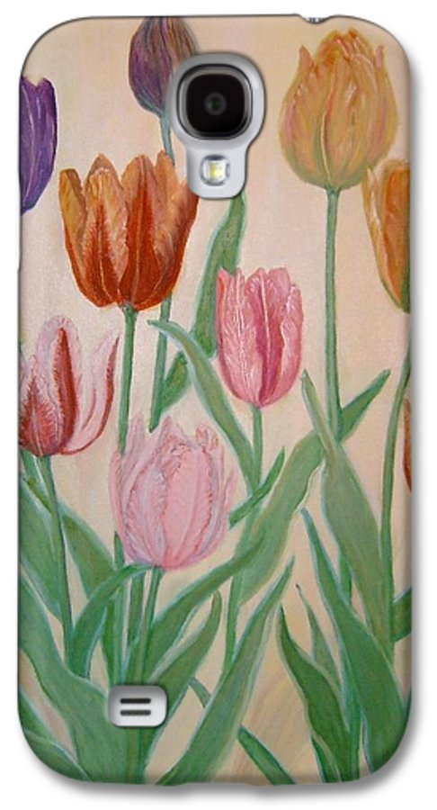 Flowers Of Spring Galaxy S4 Case featuring the painting Tulips by Ben Kiger