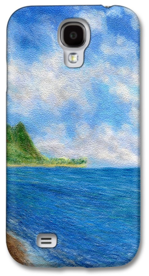 Rainbow Colors Pastel Galaxy S4 Case featuring the painting Tunnels Beach Sky by Kenneth Grzesik