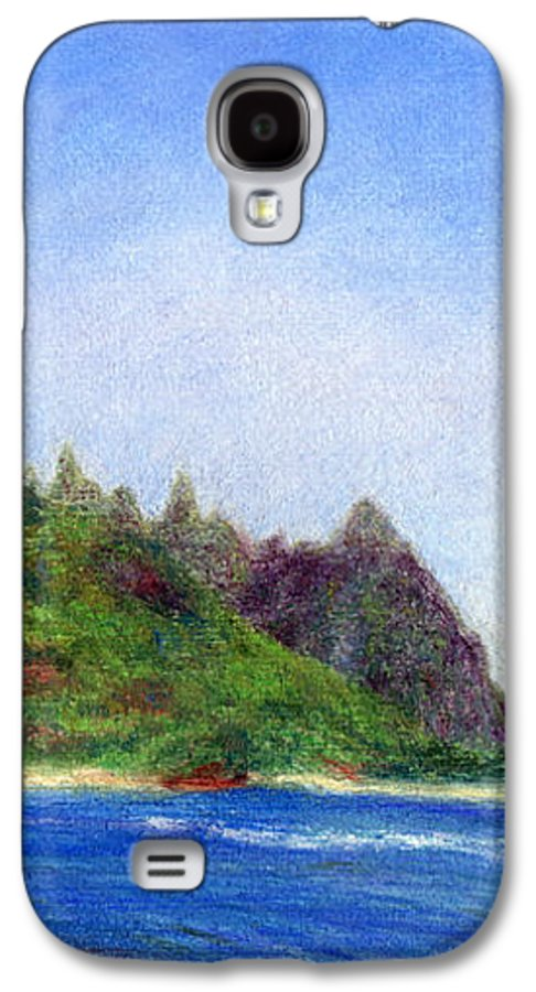 Rainbow Colors Pastel Galaxy S4 Case featuring the painting Tunnels Beach View by Kenneth Grzesik