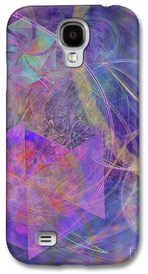 Turbo Blue Galaxy S4 Case featuring the digital art Turbo Blue by John Beck
