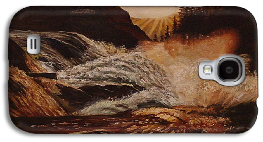 Water Galaxy S4 Case featuring the painting Turbulent Waters by Quwatha Valentine