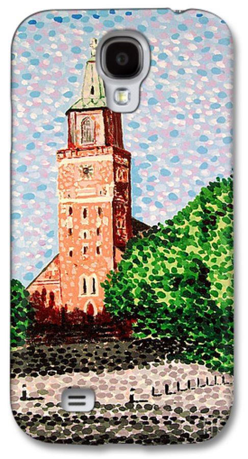 Finnish Galaxy S4 Case featuring the painting Turku Cathedral by Alan Hogan