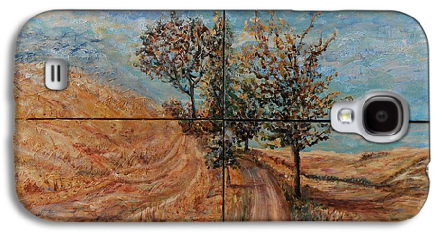 Landscape Galaxy S4 Case featuring the painting Tuscan Journey by Nadine Rippelmeyer