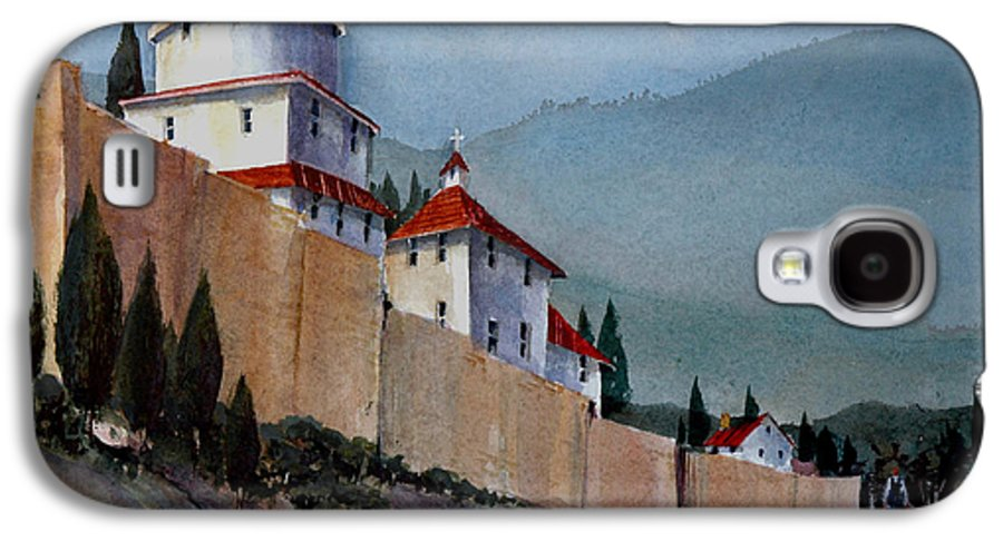 Tuscan Galaxy S4 Case featuring the painting Tuscan Lane by Charles Rowland