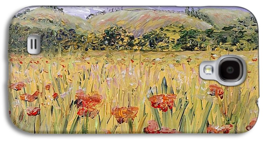 Poppies Galaxy S4 Case featuring the painting Tuscany Poppies by Nadine Rippelmeyer