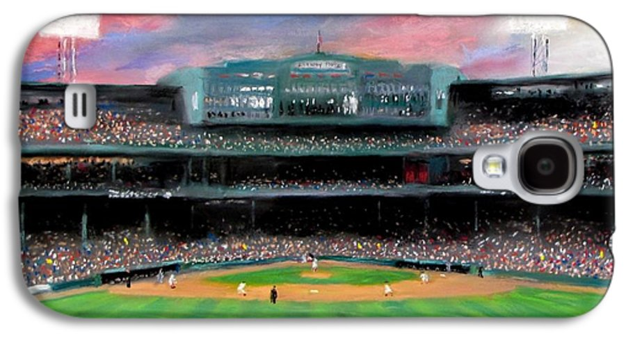 Baseball Galaxy S4 Case featuring the painting Twilight At Fenway Park by Jack Skinner