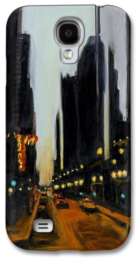 Rob Reeves Galaxy S4 Case featuring the painting Twilight In Chicago by Robert Reeves