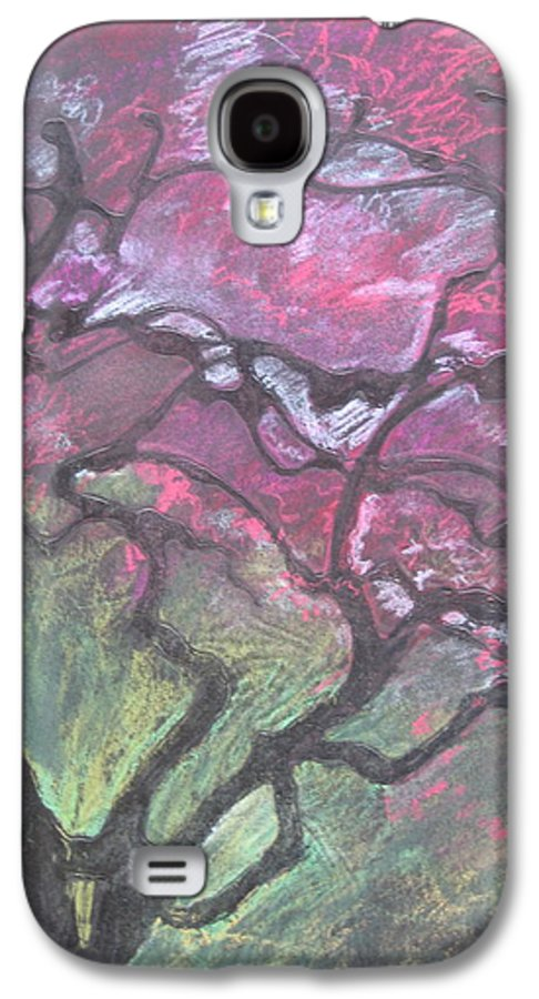 Pastel Galaxy S4 Case featuring the drawing Twisted Cherry by Leah Tomaino