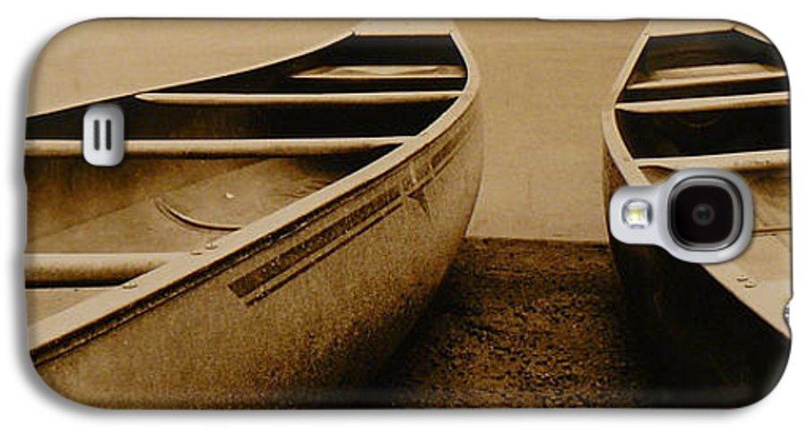 Canoes Galaxy S4 Case featuring the photograph Two Canoes by Jack Paolini