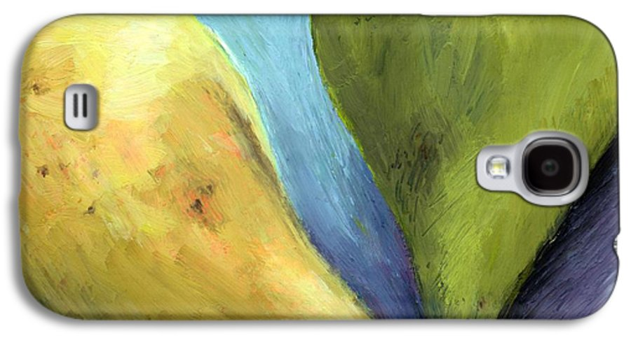 Pear Galaxy S4 Case featuring the painting Two Pears Still Life by Michelle Calkins