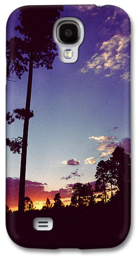 Arizona Sunset Galaxy S4 Case featuring the photograph Two Pines Sunset by Randy Oberg