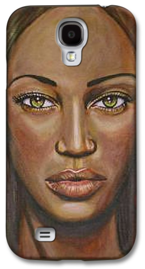 Woman Galaxy S4 Case featuring the painting Tyra by Sarah-Lynn Brown