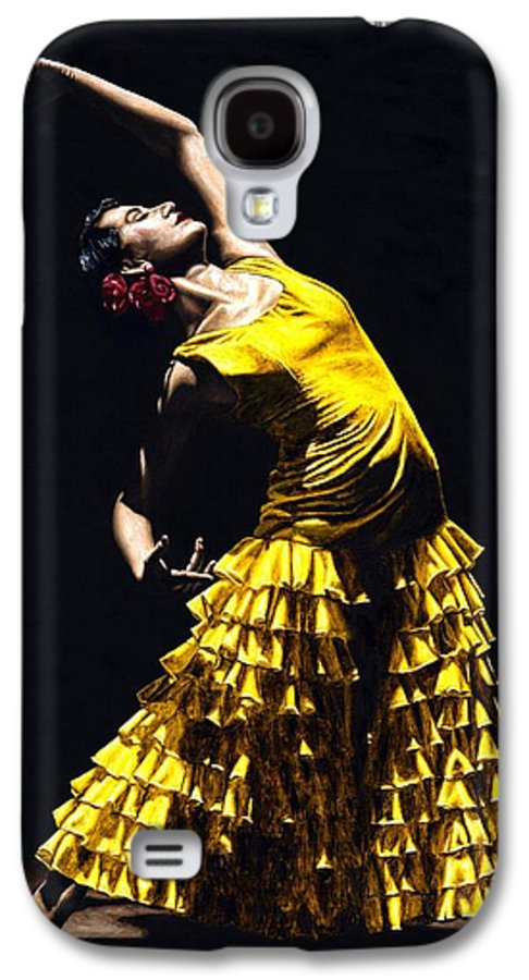 Flamenco Galaxy S4 Case featuring the painting Un Momento Intenso Del Flamenco by Richard Young