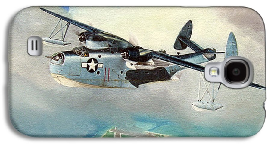 Military Galaxy S4 Case featuring the painting Uncle Bubba's Flying Boat by Marc Stewart