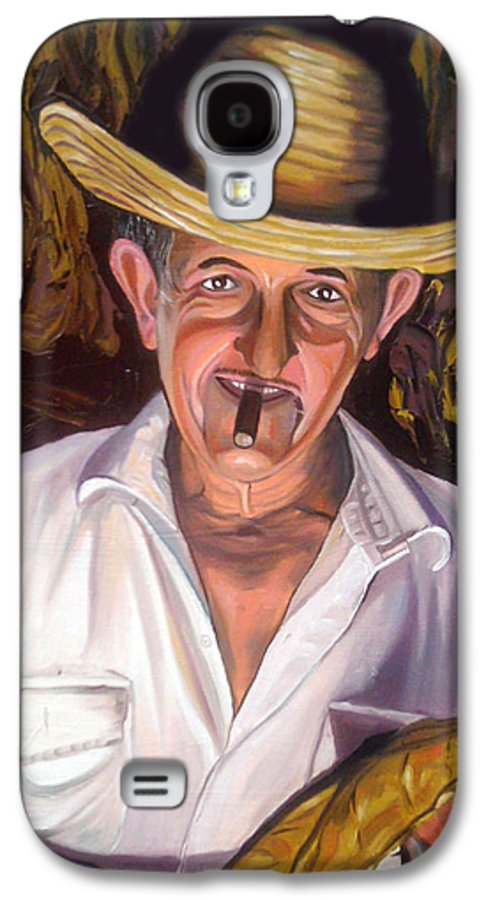 Cuban Art Galaxy S4 Case featuring the painting Uncle Frank by Jose Manuel Abraham