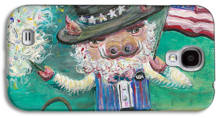 Fourth Of July Galaxy S4 Case featuring the painting Uncle Spam by Nadine Rippelmeyer