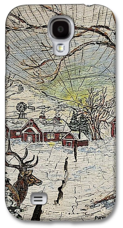 Elk Galaxy S4 Case featuring the painting Unexpected Guest IIi by Phyllis Mae Richardson Fisher