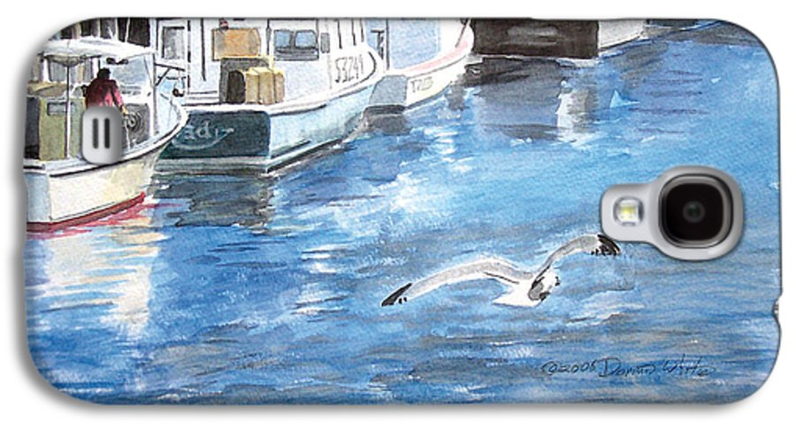 Seagull Galaxy S4 Case featuring the painting Union Wharf by Dominic White