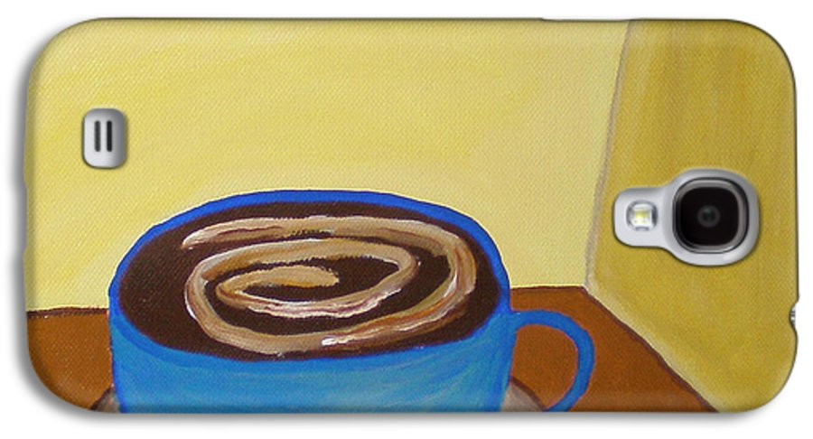 Universal Mocha Galaxy S4 Case featuring the painting Universal Mocha by Beth Cornell