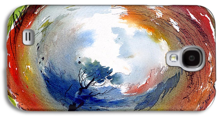 Landscape Water Color Watercolor Digital Mixed Media Galaxy S4 Case featuring the painting Universe by Anil Nene