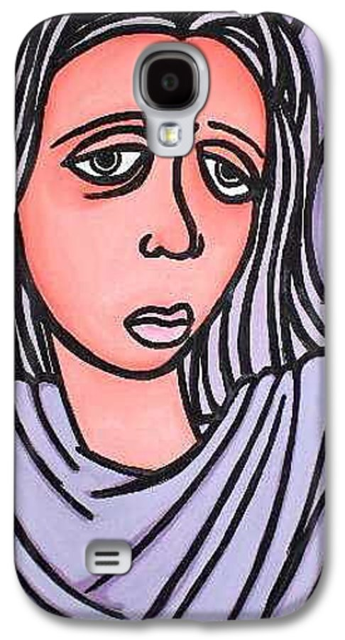 Portrait Galaxy S4 Case featuring the painting Unknown by Thomas Valentine