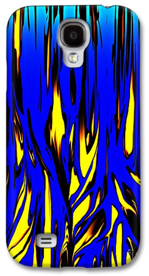 Abstract Galaxy S4 Case featuring the digital art Untitled 7-21-09 by David Lane