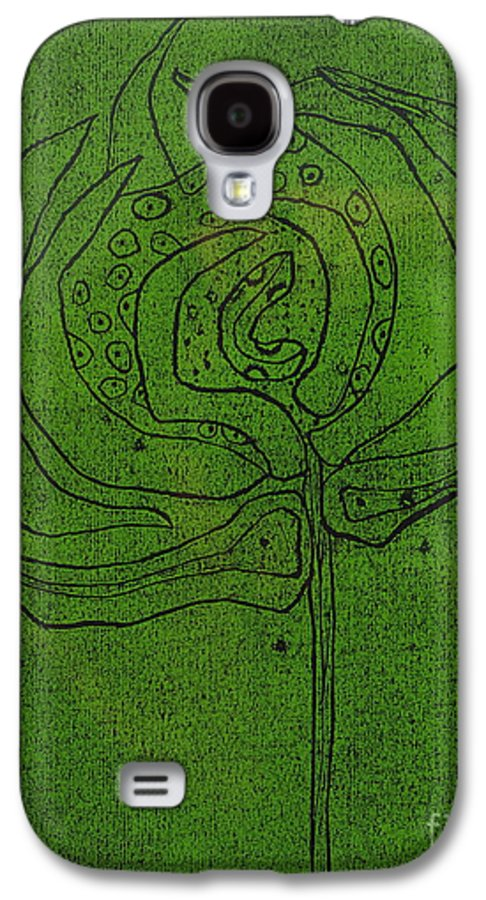 Green Galaxy S4 Case featuring the painting Untitled by Angela Dickerson