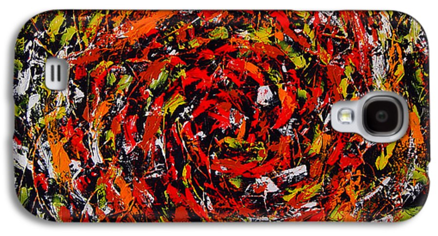 Abstract Galaxy S4 Case featuring the painting Untitled by Dean Triolo