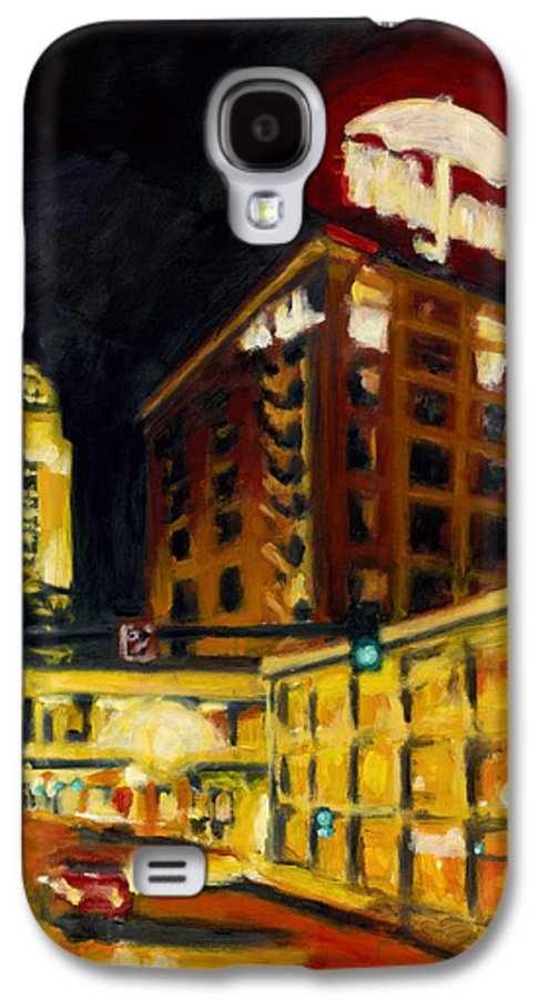 Rob Reeves Galaxy S4 Case featuring the painting Untitled In Red And Gold by Robert Reeves