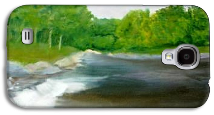 River Galaxy S4 Case featuring the painting Untitled Plein Aire by Sheila Mashaw