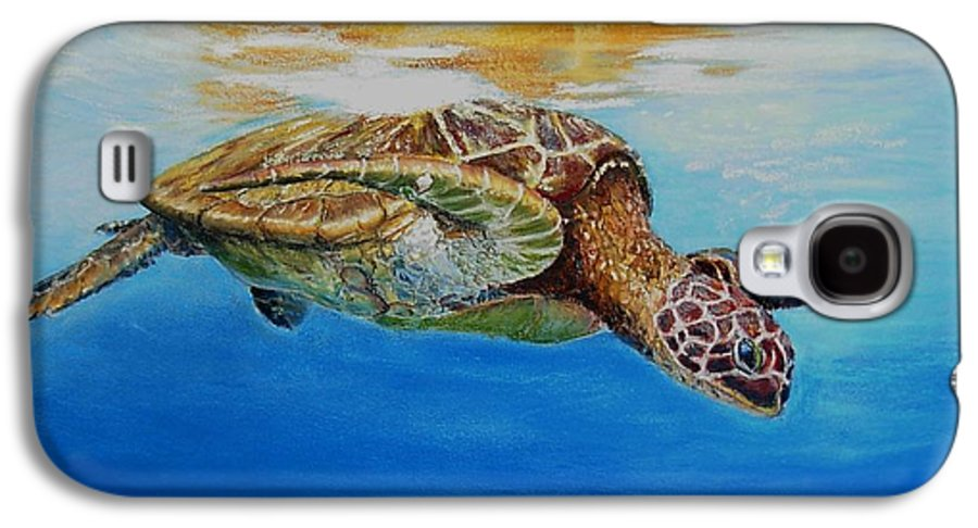 Wildlife Galaxy S4 Case featuring the painting Up For Some Rays by Ceci Watson