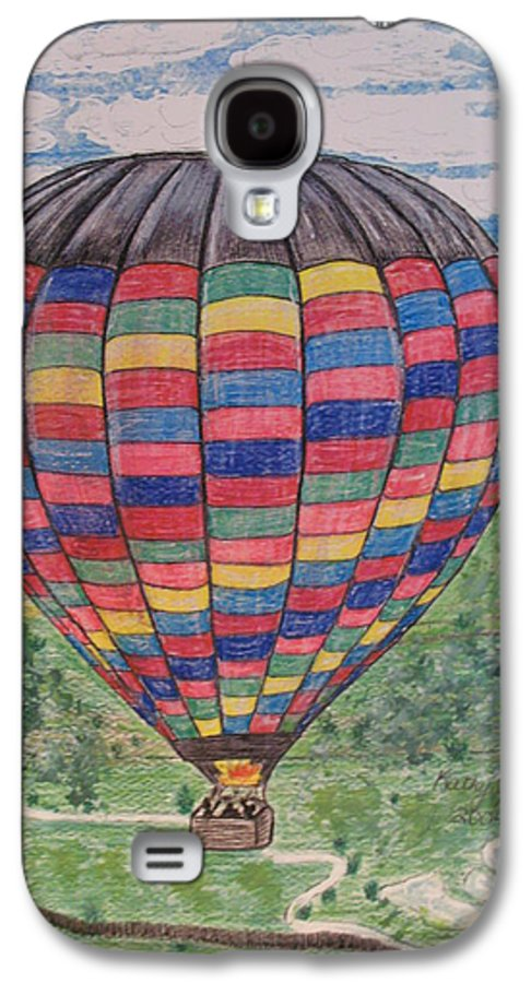 Balloon Ride Galaxy S4 Case featuring the painting Up Up And Away by Kathy Marrs Chandler