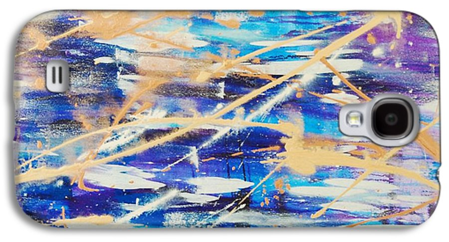 Abstract Galaxy S4 Case featuring the painting Urban Footprint by Lauren Luna