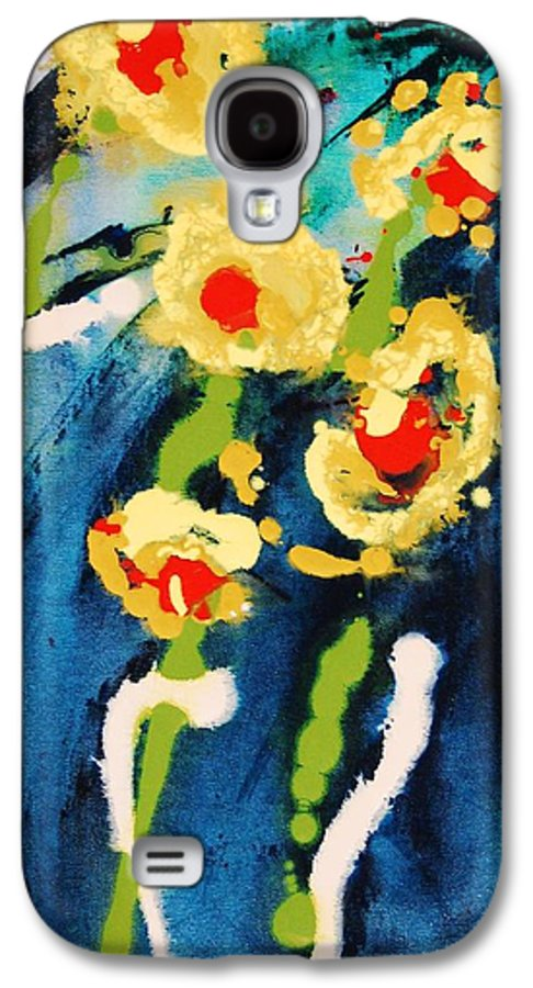 Abstract Galaxy S4 Case featuring the painting Urban Garden by Lauren Luna
