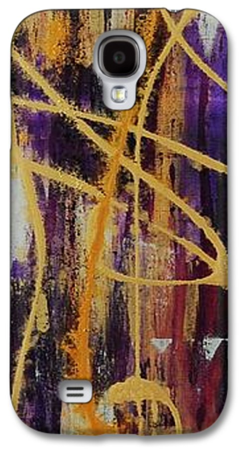 Abstract Galaxy S4 Case featuring the painting Urban Royality by Lauren Luna