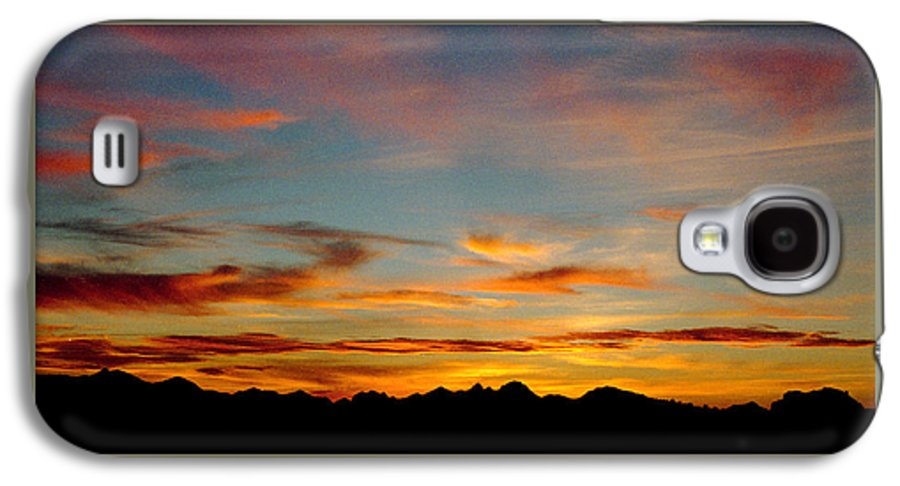 Arizona Sunset Galaxy S4 Case featuring the photograph Usery Sunset by Randy Oberg