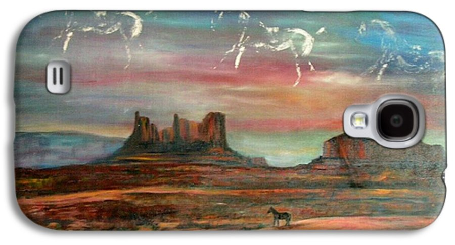 Landscape Galaxy S4 Case featuring the painting Valley Of The Horses by Darla Joy Johnson