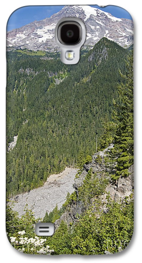 Mt. Rainier Galaxy S4 Case featuring the photograph Valley View Of Mt. Rainier by Larry Keahey