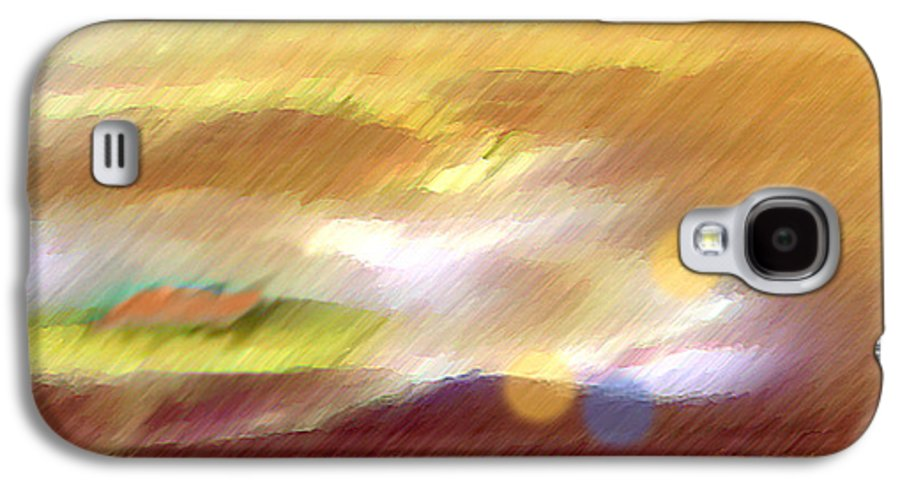 Landscape Galaxy S4 Case featuring the painting Valleylights by Anil Nene