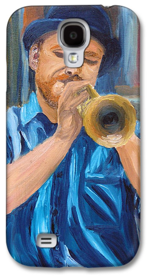Musician Galaxy S4 Case featuring the painting Van Gogh Plays The Trumpet by Michael Lee